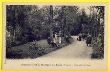 CPA 1900 MARTIGNY les BAINS Vosges ÉTABLISSEMENT THERMAL Une Allée du Parc Animé