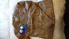 Premium Quality Sheep Leather Dark Mushroom Ladies Jacket Size Large