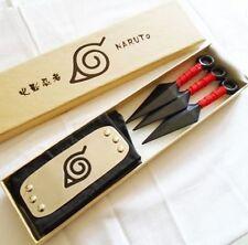 New For Anime Naruto Leaf Village Ninja Weapons Cosplay Kunai & Headband Prop