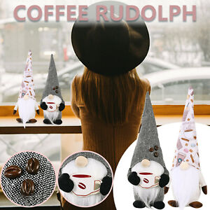 Coffee Rudolph Faceless Doll Dwarf Standing Doll Creative European and American