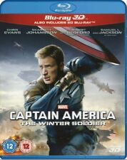 Marvel's Captain America THE WINTER SOLDIER 3D + 2D Blu-Ray BRAND NEW Free Ship