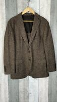 Hugo Boss Brown Wool Silk Fratelli Delfino Italian Suit Blazer Size UK 40