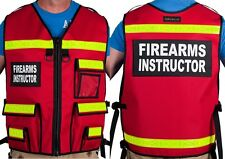 Firearms Instructor Vest , Safety, Reflective, Vest, Firearms Instructor, Custom