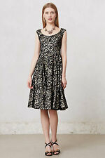NWT Anthropologie Flared Lace Dress by Mirror of Venus Black Size 0 (XS) $398