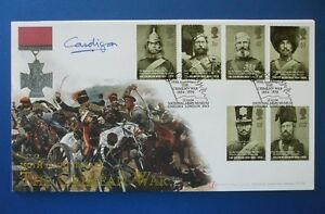 2004 THE CRIMEAN WAR FIRST DAY COVER SIGNED BY EARL OF CARDIGAN