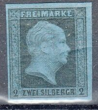 Prussia, Sc#4, 2 Sgr, 1864 Official Reprint, VF OG, *UNcommon*, Germany