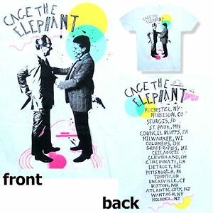 Cage The Elephant Back Stabbers Tour Whitet Shirt Xl New Official Merch
