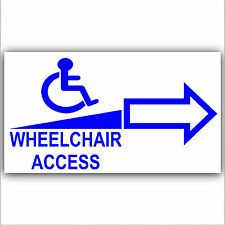 Wheelchair Access Entry Sticker Sign-Disabled,Disability,Mobility - Right Arrow
