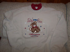 Teddy'S Bear American Classic Sweat Shirt New Size Med.