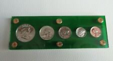 More details for usa 1961 specimin proof set 4 .900 silver and a copper 1 cent us mint