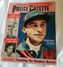 The Police Gazette May 1949 Kentuck Derby Arcaro '49 Pennant Winners