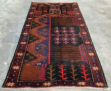 New listing Authentic Hand Knotted Afghan Balouch Wool Area Rug 5 x 3 Ft (406 Hmn)