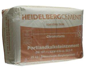 Heidelberger Portlandkalkstein Zement 32,5 CEM 2 Portlandkompositzement 10 Kilo