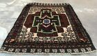 Authentic Hand Knotted Afghan Balouch Wool Area Rug 2 x 2 Ft (1538 HMN)
