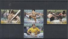Papúa Nueva Guinea 2012 estampillada sin montar o nunca montada Sports Legends 4v Set Boxeo Willie Genesis Rugby sellos