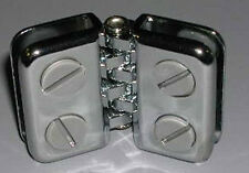 Hinged Door Showcase Clamp Clips 3/16 Inch Glass Display Chrome Lot Of 10 New