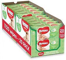 Huggies Natural Care Salviettine per bambini - 2 x 10 Confezioni da 56 salviette, totale 1120 SALVIETTE