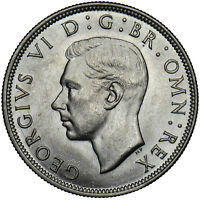 1946 HALFCROWN - GEORGE VI BRITISH SILVER COIN - SUPERB