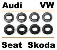 VW Audi Seat Skoda Befestigung Clip für Fußmatten + Gummimatten OVAL - 4x Stück