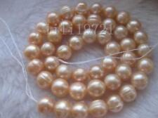 100% natural 12-13mm Pink Freshwater baroque pearl beads 15""