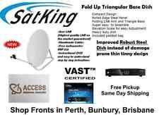 Satking Vast Portable Caravan Satellite Dish Kit with Vast DVBS2-800CA Receiver
