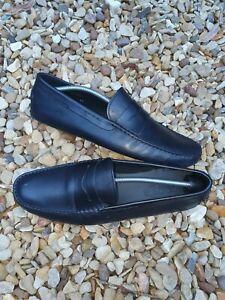 TOD'S Men's Black Size UK 11 Leather Loafers Smart Designer Fast Post