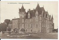 CPA-72- Carte postale - PARCE - Château de Pescheseul