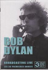 COFFRET 3 DVD BOB DYLAN BROADCASTING LIVE LES 30 PREMIERES ANNEES