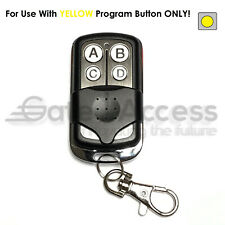 Chamberlain Key Chain Remote Garage Door Opener Transmitter Yellow Learn Button