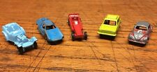 Lot Of 5 Tootsietoy Cars VW Fiat Dragster Rabbit Beetle Toy Volkswagen Jalopy