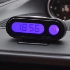 Car Interior Dashboard Mount Mini LED Digital Display Clock Thermometer Vehicle
