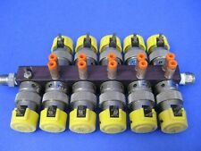Clippard ET-3M-24 VDC 3-Way Solenoid Valve- Lot of 11 Manifold Mounted, Used