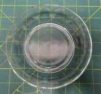 "Arcoroc France Clear Glass Thumbprint Design Fruit Bowl, Dessert Bowl 5.5"" D"