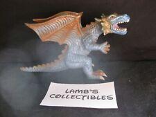 "Toy Major 2006 Trading Co Elite Dragon 7"" long Blue Metallic Tan action figure"