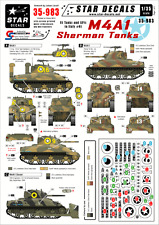 Star Decals, 35-983, Decal for US M4A1 Sherman tanks in Italy, 1:35