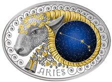 10 Denar Mazedonien Sternzeichen Widder - Aries 2015 PP Silber, Gold