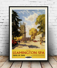 Leamington spa : Old Travel Poster reproduction
