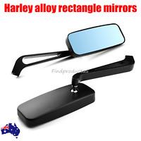 2x Rectangle Black Mirrors For Harley Davidson V-Rod Night Street V Rod