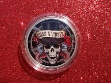 """2020 Silver Eagle Colorized """" Guns N' Roses """" Limited to 20"""