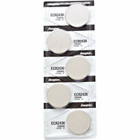 5 x Energizer CR2430 Batteries, Lithium, 2430