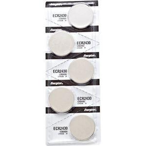 5 x Energizer CR2430 Batteries, Lithium, 2430
