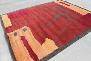 RSG1754 Gorgeous Contemporary Tibetan Woolen Area Rug 8' x 10' Made in Nepal