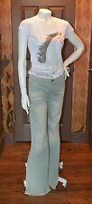 MISS SIXTY! RETRO HIPPY LIGHT WASH DISTRESSED JEANS! NEW SIZE 31/10! $158.