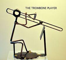 "561-Rock Creek Metal Craft Art..""TROMBONE"" PLAYER w/ music stand...made-USA"
