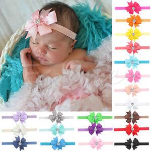 10Pcs Newborn Baby Girl Bow Headband Infant Toddler Hair Band Girls Accessories
