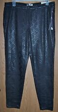 Jennifer Lopez Leggings - Women's Black Denim, Size 16 Long, Snake Skin Print