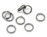 100 Anneaux double de jonction Gunmetal 6mm, Creation bijoux, colier, .... 6 mm