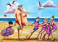 aussie beach australia bondi gold coast Andy Baker poster canvas art