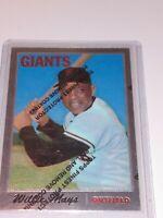 WILLIE MAYS 1970 Topps 600 Chrome Refractor San Fran Giants Topps 1996 RP #24