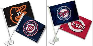 MLB Team Logo Car Window Flag Made By Fremont Die -Select- Team Below